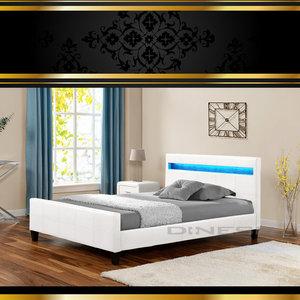 Bed met ledverlichting - design4allez