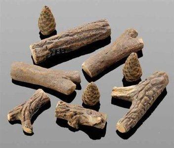 Keramische houtblokken set
