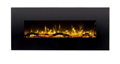 128cm Elektrische sfeerhaard 3 kleuren - Zwart