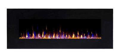 182,8 cm Elektrische sfeerhaard 3 kleuren - Zwart
