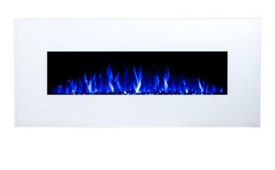 128cm Elektrische sfeerhaard 3 kleuren - Wit